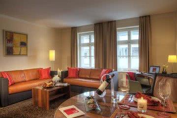 Wohnbereich Apartmenthotel München