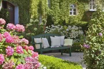 Romantischer Garten Innenhof Hotel