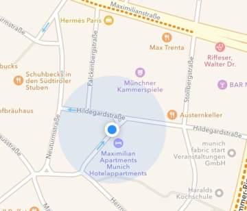 Lageplan Hotel Maximilian Munich München