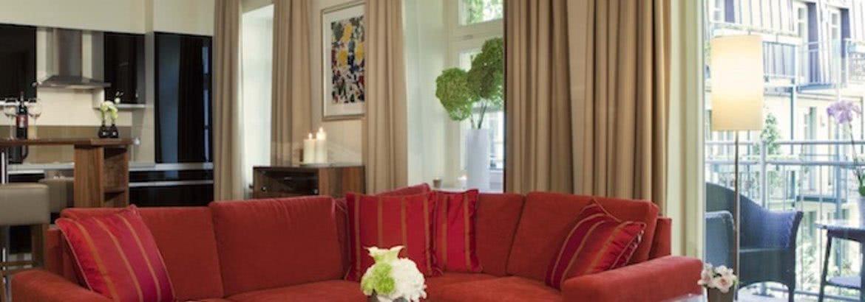 Wohnzimmer Luxury Suite Hotel München