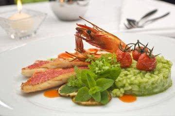 Garnele Hauptspeise Hotel Restaurant