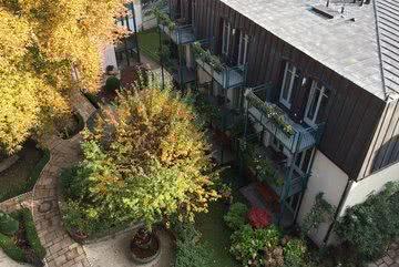 Blick Vogelperspektive Roof-Garden Suite