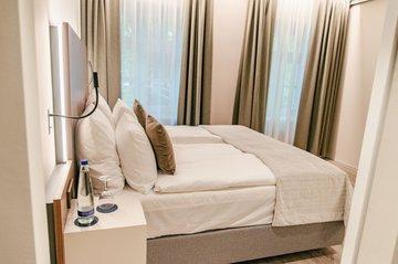 Modernes Schlafzimmer Bett Aparthotel München Innenstadt