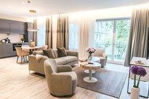 Rose Garden Suite Wohnbereich mit Küche