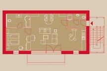 Grundriss Rose-Garden Suite Aparthotel