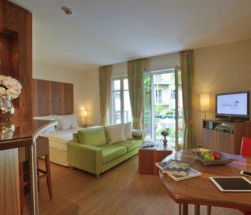 Schlafzimmer und Wohnbereich Zimmer Suite