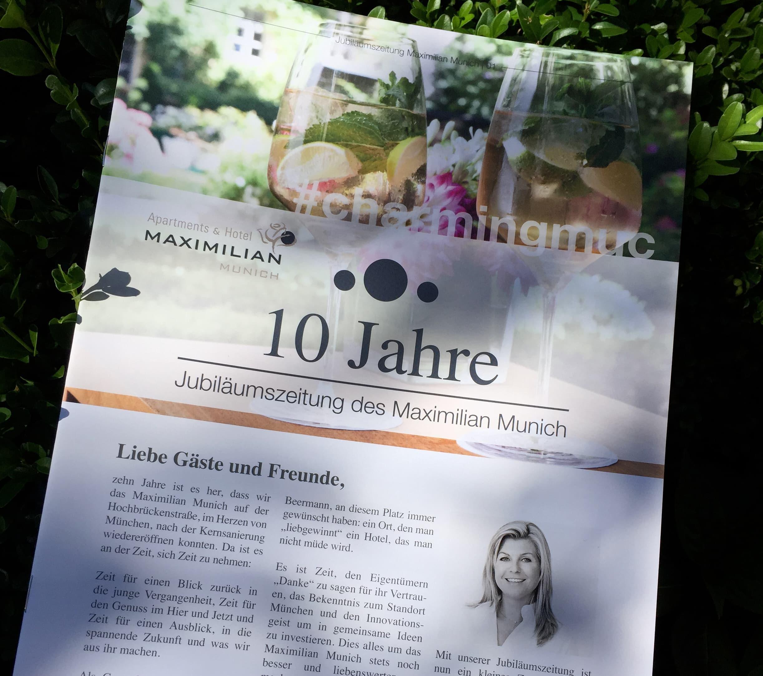 Boutique Hotel Maximilian Munich Newsletter